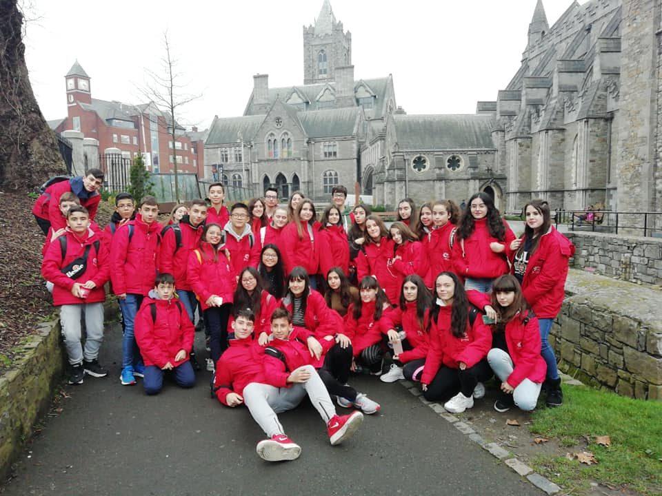 Alumnos participantes en un intercambio con Irlanda